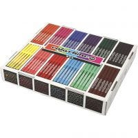 Colortime Filzstifte, Strichstärke 2 mm, Sortierte Farben, 12x24 Stk/ 1 Pck