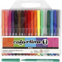 Colortime Filzstifte, Strichstärke 2 mm, Sortierte Farben, 18 Stk/ 1 Pck