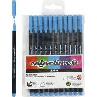 Colortime Fineliner, Strichstärke 0,6-0,7 mm, Hellblau, 12 Stk/ 1 Pck