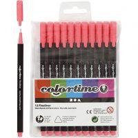 Colortime Fineliner, Strichstärke 0,6-0,7 mm, Pink, 12 Stk/ 1 Pck
