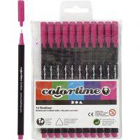 Colortime Fineliner, Strichstärke 0,6-0,7 mm, Zyklam, 12 Stk/ 1 Pck