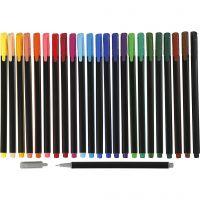 Colortime Fineliner, Strichstärke 0,6-0,7 mm, Sortierte Farben, 24 Stk/ 1 Pck