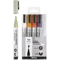 Kreide-Marker, Strichstärke 1,2-3 mm, Pastellfarben, 5 Stk/ 1 Pck