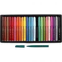 Visa Color Filzstifte - Sortiment, Strichstärke 3 mm, Sortierte Farben, 24 Stk/ 1 Pck