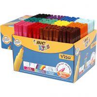 Visa Fine Filzstifte - Sortiment, Strichstärke 1,6 mm, Sortierte Farben, 12x24 Stk/ 1 Pck