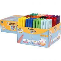 Visa Color Filzstifte - Sortiment, Strichstärke 3 mm, Sortierte Farben, 12x12 Stk/ 1 Pck