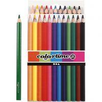 Colortime Buntstifte, L: 17,45 cm, Mine 5 mm, JUMBO, Sortierte Farben, 12 Stk/ 1 Pck