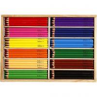 Buntstifte, Mine 5 mm, JUMBO, Sortierte Farben, 144 Stk/ 1 Pck