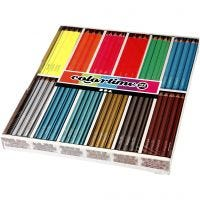 Colortime Buntstifte, L: 17,45 cm, Mine 4 mm, 144 Stk/ 1 Pck