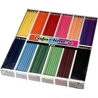 Colortime Buntstifte, L: 17,45 cm, Mine 3 mm, Sortierte Farben, 12x24 Stk/ 1 Pck