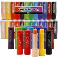 Soft Color Stick, L: 8 cm, Sortierte Farben, 120 Stk/ 1 Pck, 6,5 g