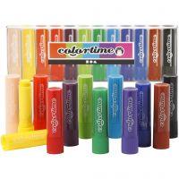 Soft Color Stick, L: 8 cm, Sortierte Farben, 12 Stk/ 1 Pck