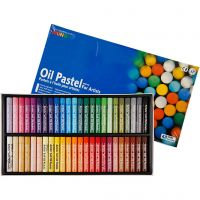 Mungyo Ölpastellfarben, L: 7 cm, Dicke 11 mm, Sortierte Farben, 48 Stk/ 1 Pck