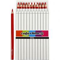 Colortime Buntstifte, L: 17,45 cm, Mine 5 mm, JUMBO, Rot, 12 Stk/ 1 Pck