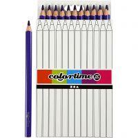 Colortime Buntstifte, L: 17,45 cm, Mine 5 mm, JUMBO, Flieder, 12 Stk/ 1 Pck