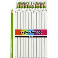 Colortime Buntstifte, L: 17,45 cm, Mine 5 mm, JUMBO, Hellgrün, 12 Stk/ 1 Pck