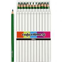 Colortime Buntstifte, L: 17,45 cm, Mine 5 mm, JUMBO, Grün, 12 Stk/ 1 Pck