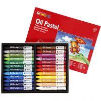 Ölkreiden Premium, dreieckig, L: 7 cm, Dicke 10 mm, Sortierte Farben, 24 Stk/ 1 Pck