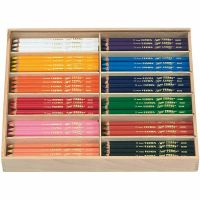 Super Ferby 1 Buntstifte, L: 18 cm, Mine 6,25 mm, Sortierte Farben, 12x12 Stk/ 1 Pck