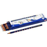 Groove Bleistift, D: 7,2 mm, Stärke HB, Mine 3,3 mm, 12 Stk/ 1 Pck