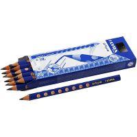 Groove Bleistift, D: 10 mm, Stärke B, Mine 4,25 mm, 12 Stk/ 1 Pck