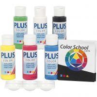 Plus Color Bastelfarbe, Primärfarben, 6x60 ml/ 1 Pck