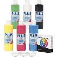 Plus Color Bastelfarbe, Primärfarben, 6x250 ml/ 1 Pck