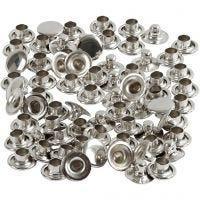 Nieten, D: 7 mm, Silber, 50 Stk/ 1 Pck