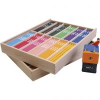 edu3 Jumbo-Buntstifte, Mine 6,25 mm, Sortierte Farben, 24x12 Stk/ 1 Pck