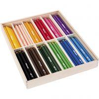 edu3 Jumbo-Buntstifte, Dicke 10 mm, Mine 6,25 mm, Sortierte Farben, 12x12 Stk/ 1 Pck
