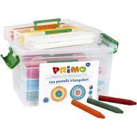 PRIMO Wachsmalstifte, Sortierte Farben, 12x12 Stk/ 1 Pck