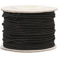 Elastikschnur, Dicke 1 mm, Schwarz, 25 m/ 1 Rolle