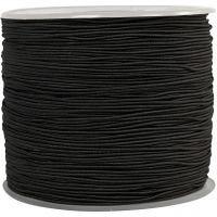 Elastikschnur, Dicke 1 mm, Schwarz, 250 m/ 1 Rolle