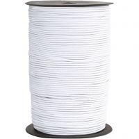 Elastikschnur, Dicke 2 mm, Weiß, 250 m/ 1 Rolle