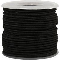 Elastikschnur, Dicke 2 mm, Schwarz, 25 m/ 1 Rolle