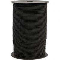 Elastikschnur, Dicke 2 mm, Schwarz, 250 m/ 1 Rolle