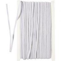 Elastikband, B: 6 mm, Weiß, 50 m/ 1 Rolle