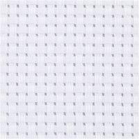 Aida-Stoff, Größe 50x50 cm, 35 Kästchen pro 10 cm, Weiß, 1 Stk