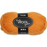 Babywolle, L: 172 m, Orange, 50 g/ 1 Knäuel
