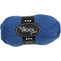 Babywolle, L: 172 m, Blau, 50 g/ 1 Knäuel