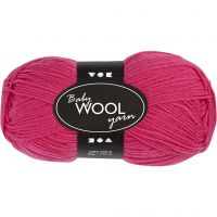 Babywolle, L: 172 m, Pink, 50 g/ 1 Knäuel
