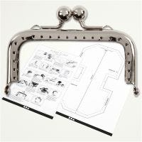 Bügelverschluss für Handtaschen, Größe 8 cm, Silber, 1 Stk