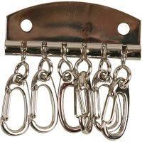Schlüsselanhänger-Beschlag, L: 4,5 cm, 1 Stk