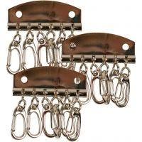 Schlüsselanhänger-Beschlag, L: 4,5 cm, 15 Stk/ 1 Pck