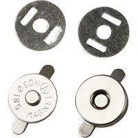 Magnetverschluss, D: 18 mm, 4 Stk/ 1 Pck