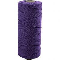 Baumwollkordel - Sortiment, L: 315 m, Dicke 1 mm, Dünne Qualität 12/12, Violett, 220 g/ 1 Knäuel
