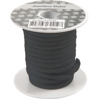 Polyester-Band, Dicke 4 mm, Schwarz, 5 m/ 1 Rolle