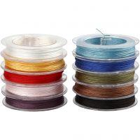 Polyesterschnur, Dicke 1 mm, Sortierte Farben, 10x50 m/ 1 Pck