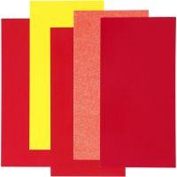 Color Dekor, Rot/Orange/Gelb, 5 Bl. sort./ 1 Pck