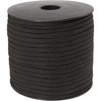 Nylon-Kordel, B: 5 mm, Schwarz, 50 m/ 1 Rolle